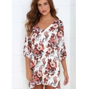Lulus Shifting Dears Cold Shoulder Dress